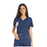 Cherokee iflex CK605 Scrubs Top Women's V-Neck Knit Panel Navy