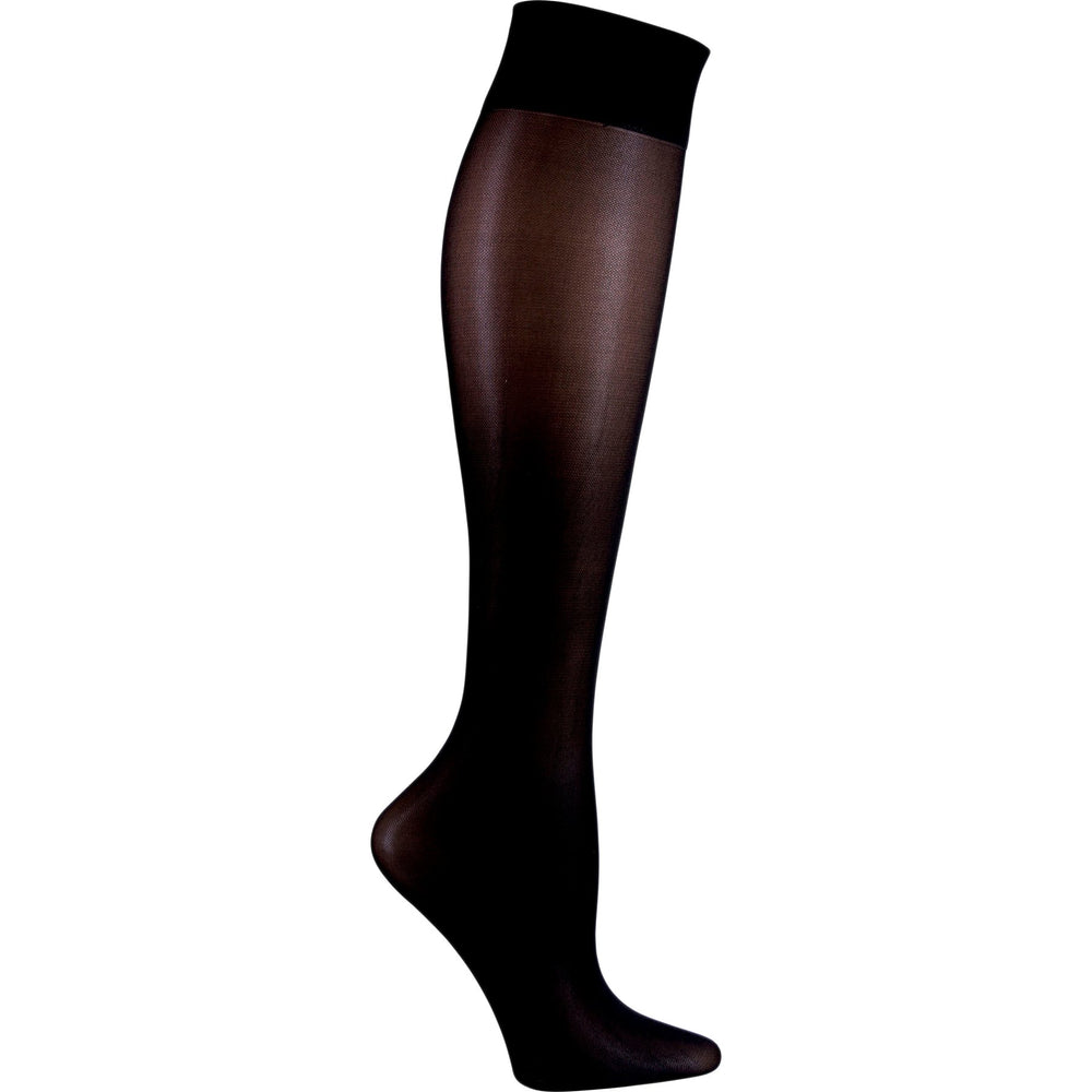 Cherokee FASHIONSUPPORT Socks Women's Knee High 12 mmHg Compression Black OS