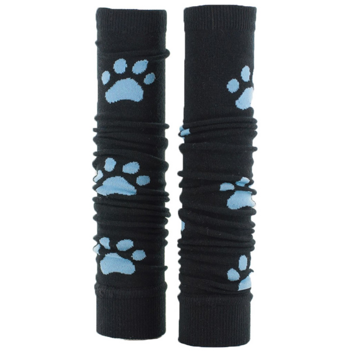 Prestige Med Sleeves Black with Blue Paws