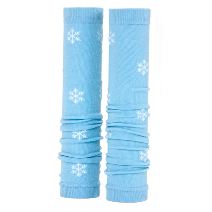 Prestige Med Sleeves Blue with White Snowflakes