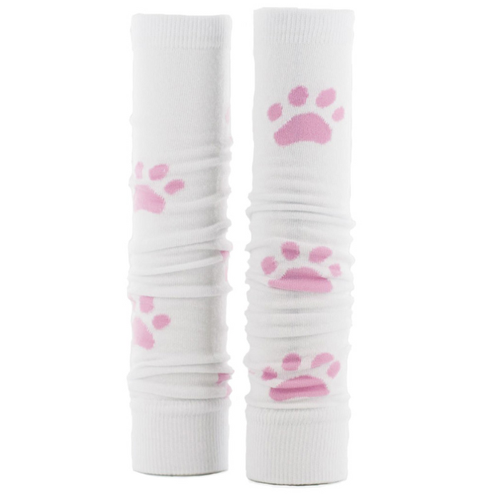 Prestige Med Sleeves White With Pink Paws