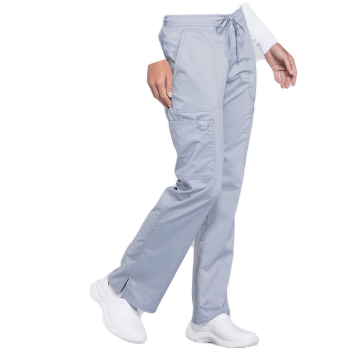 Cherokee Workwear Revolution WW120 Scrubs Pants Women's Mid Rise Moderate Flare Drawstring Grey 5XL