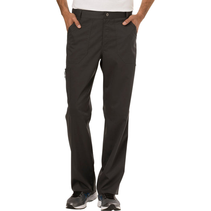 Cherokee Workwear Revolution WW140 Scrubs Pants Men's Fly Front Pewter