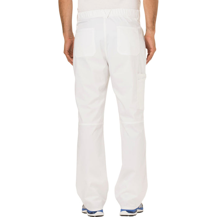 Cherokee Workwear Revolution WW140 Scrubs Pants Men's Fly Front White 3XL
