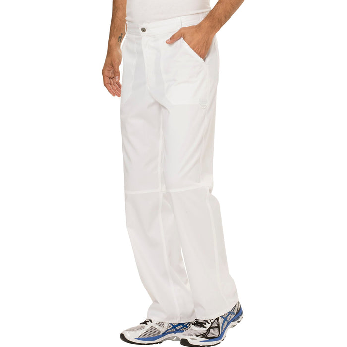 Cherokee Workwear Revolution WW140 Scrubs Pants Men's Fly Front White 4XL