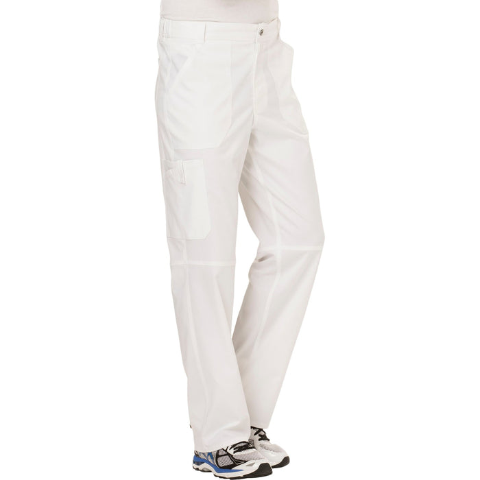 Cherokee Workwear Revolution WW140 Scrubs Pants Men's Fly Front White 5XL