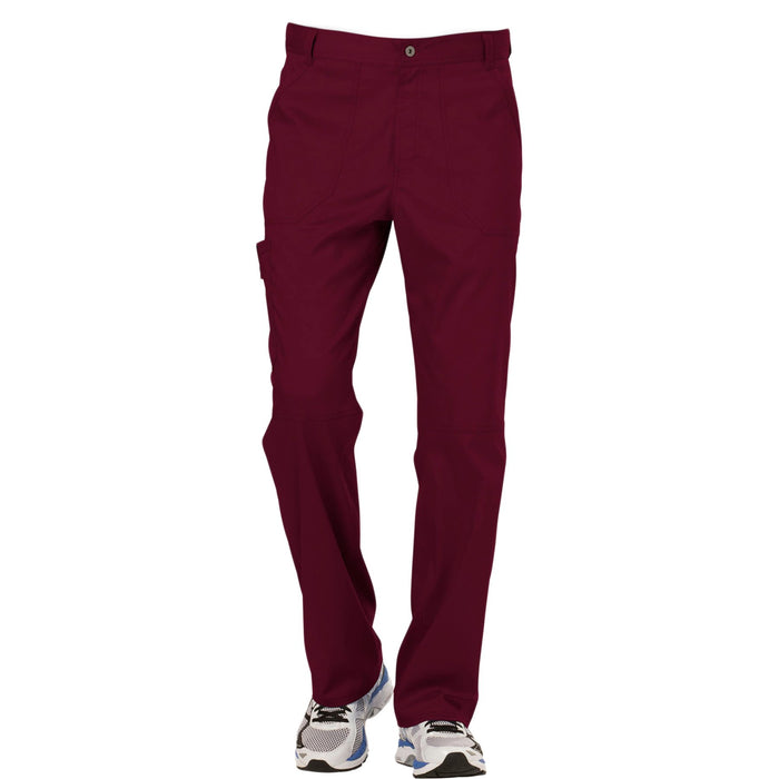 Cherokee Workwear Revolution WW140 Scrubs Pants Men's Fly Front Wine