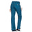 Cherokee Workwear WW210 Scrubs Pants Women's Mid Rise Straight Leg Pull-on Cargo Caribbean Blue 3XL