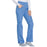 Cherokee Workwear WW210 Scrubs Pants Women's Mid Rise Straight Leg Pull-on Cargo Ciel Blue 5XL
