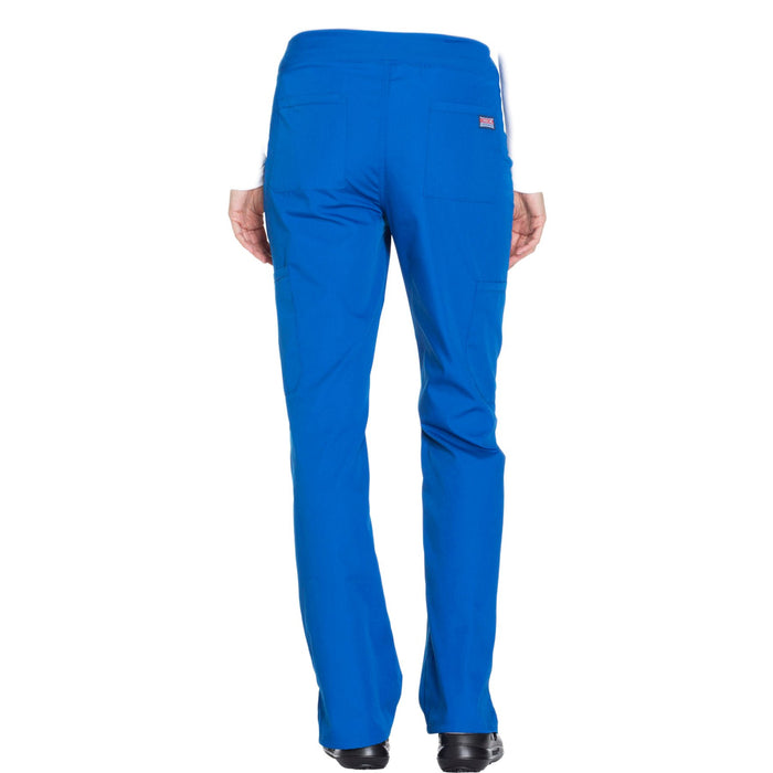 Cherokee Workwear WW210 Scrubs Pants Women's Mid Rise Straight Leg Pull-on Cargo Royal 3XL