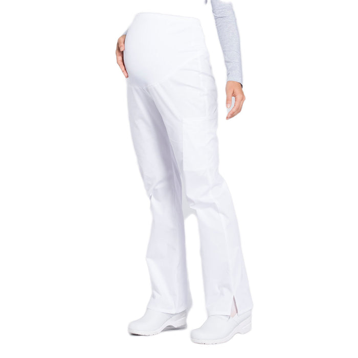 Cherokee Workwear Professionals WW220 Scrubs Pants Maternity Straight Leg White L