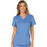 Cherokee Workwear Revolution WW610 Scrubs Top Women's Mock Wrap Ciel Blue