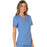 Cherokee Workwear Revolution WW610 Scrubs Top Women's Mock Wrap Ciel Blue 5XL