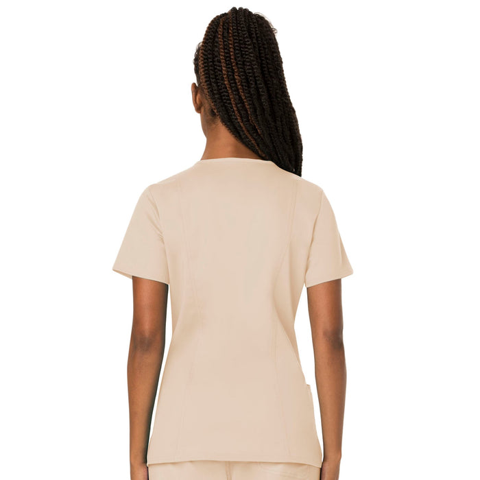 Cherokee Workwear Revolution WW620 Scrubs Top Women's V-Neck Khaki 3XL