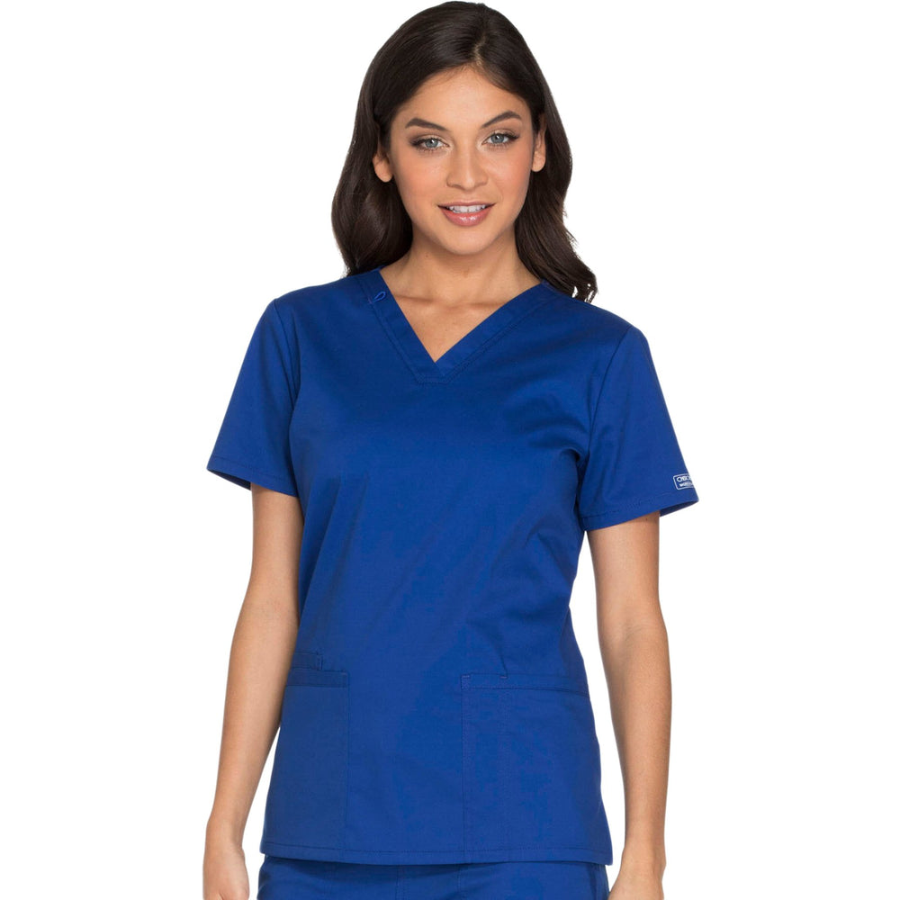 Cherokee Core Stretch WW630 Scrubs Top Women's V-Neck Galaxy Blue
