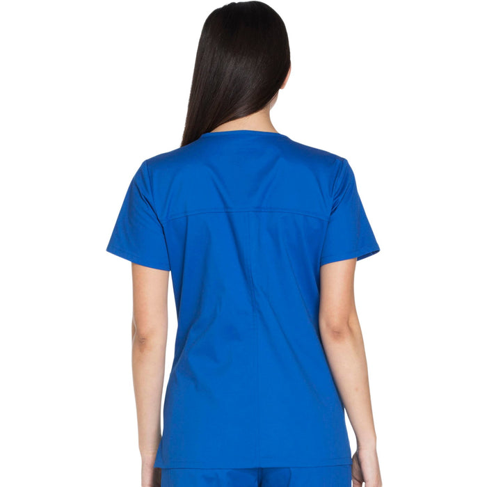 Cherokee Core Stretch WW630 Scrubs Top Women's V-Neck Royal 3XL