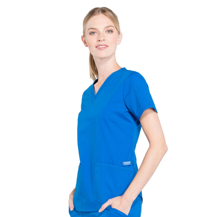 Cherokee Workwear Professionals WW665 Scrubs Top Women's V-Neck Royal 4XL