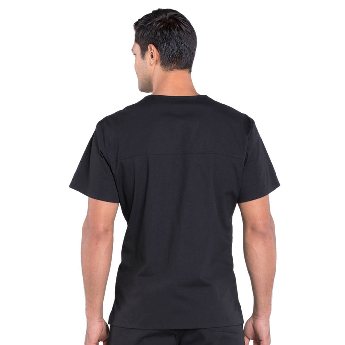 Cherokee Workwear Professionals WW675 Scrubs Top Men's V-Neck Black 3XL