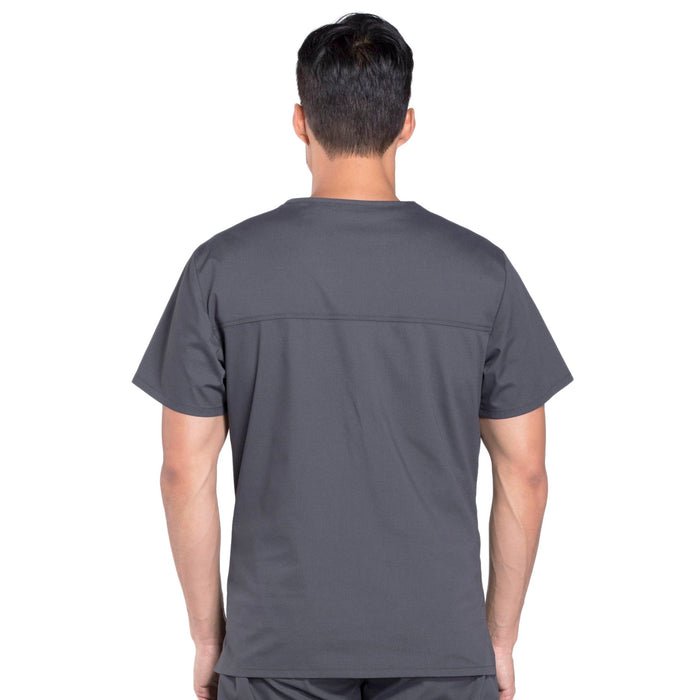 Cherokee Workwear Professionals WW675 Scrubs Top Men's V-Neck Pewter 3XL