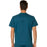 Cherokee Workwear Revolution WW690 Scrubs Top Men's V-Neck Caribbean Blue 3XL