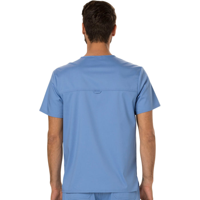 Cherokee Workwear Revolution WW690 Scrubs Top Men's V-Neck Ciel Blue 3XL