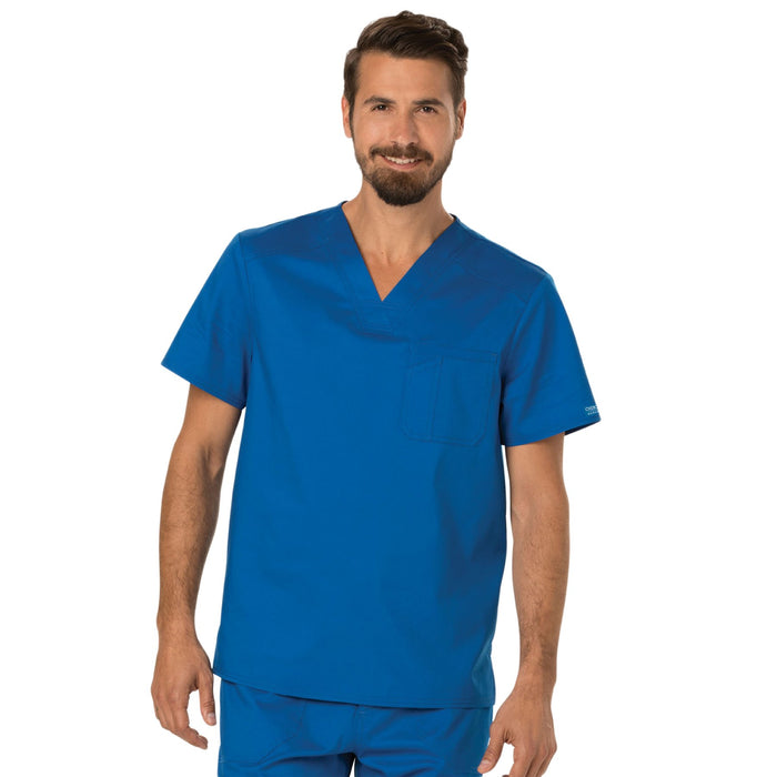 Cherokee Workwear Revolution WW690 Scrubs Top Men's V-Neck Royal