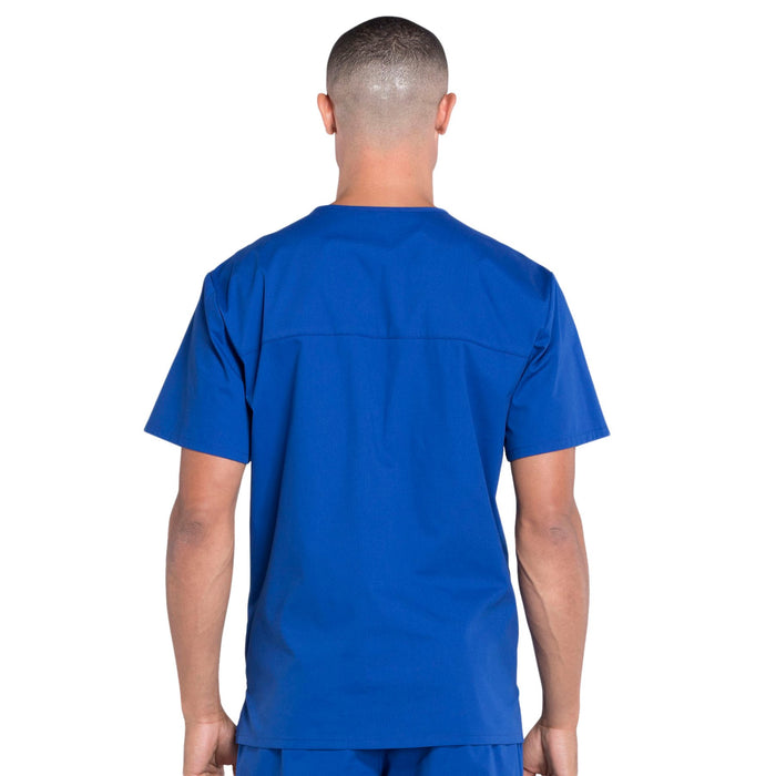 Cherokee Workwear Professionals WW695 Scrubs Top Men's V-Neck Galaxy Blue 3XL