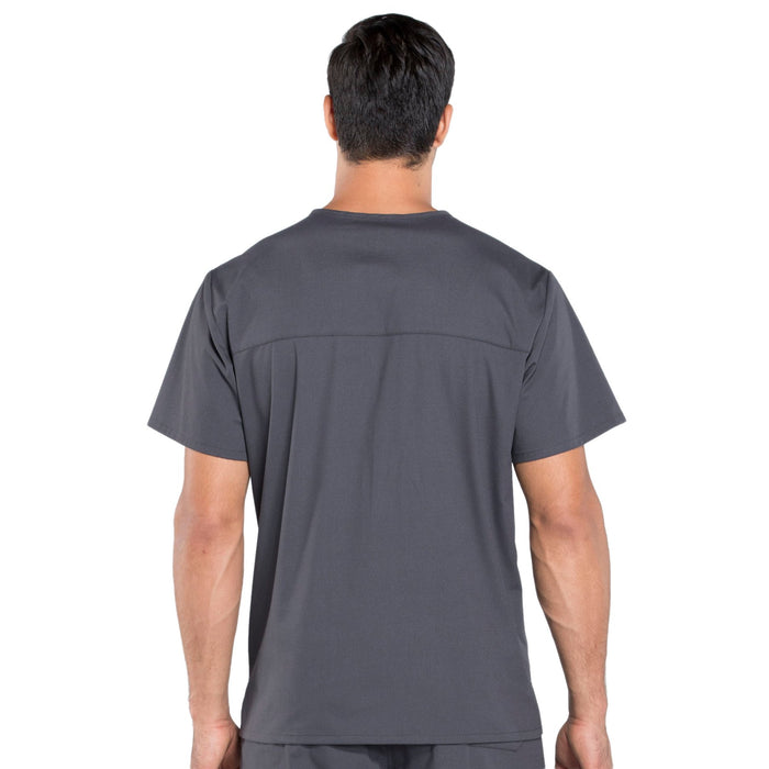 Cherokee Workwear Professionals WW695 Scrubs Top Men's V-Neck Pewter 3XL