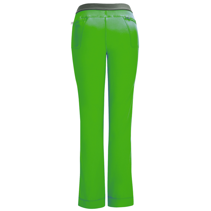 Cherokee Infinity 1124A Scrubs Pants Women's Low Rise Slim Pull-On Hunter Green 3XL