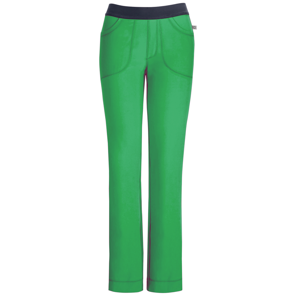 Cherokee Infinity 1124A Scrubs Pants Women's Low Rise Slim Pull-On Hunter Green