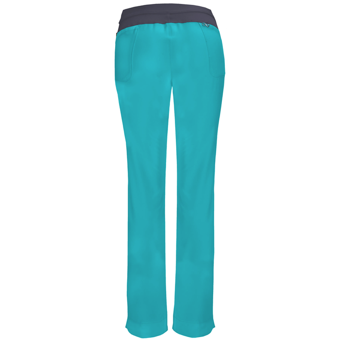 Cherokee Infinity 1124A Scrubs Pants Women's Low Rise Slim Pull-On Teal Blue 4XL