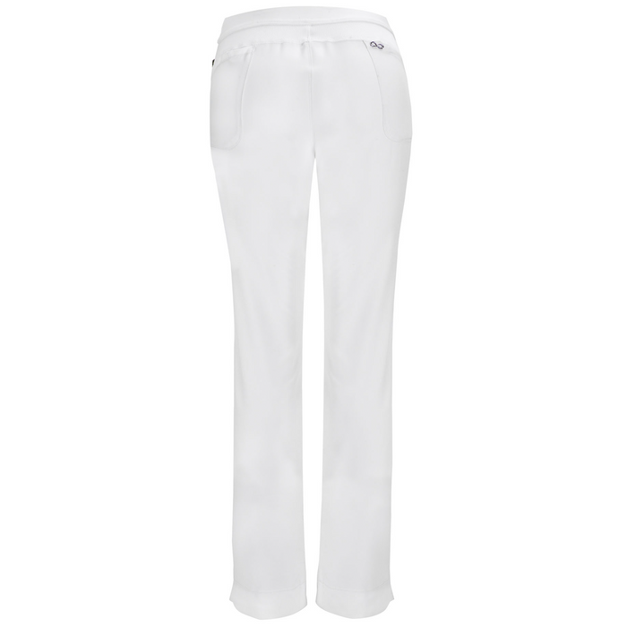 Cherokee Infinity 1124A Scrubs Pants Women's Low Rise Slim Pull-On White 3XL
