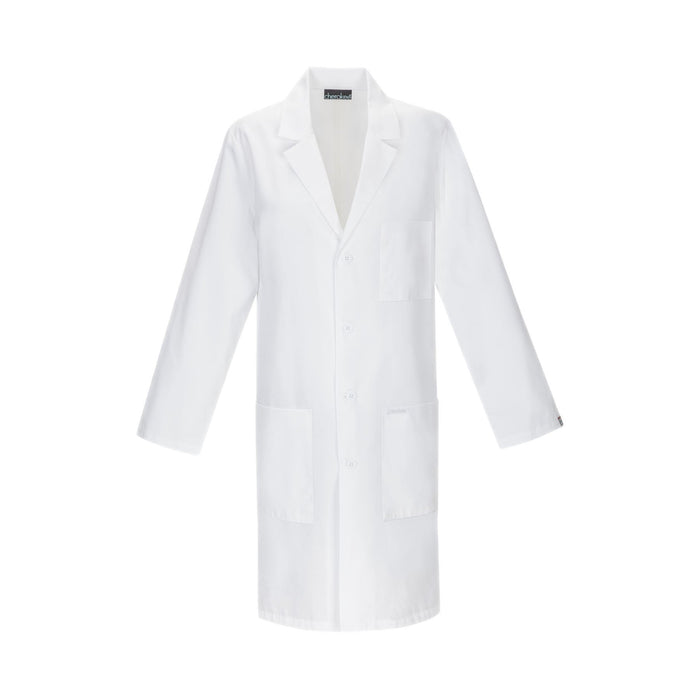 "Cherokee Lab Coats Professional Whites with Certainty Plus 40"" Unisex Lab Coat White"