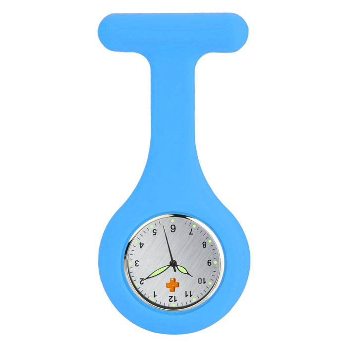 Silicone Nursing FOB Watch Light Blue
