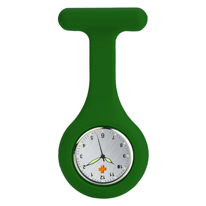 Silicone Nursing FOB Watch Dark Green