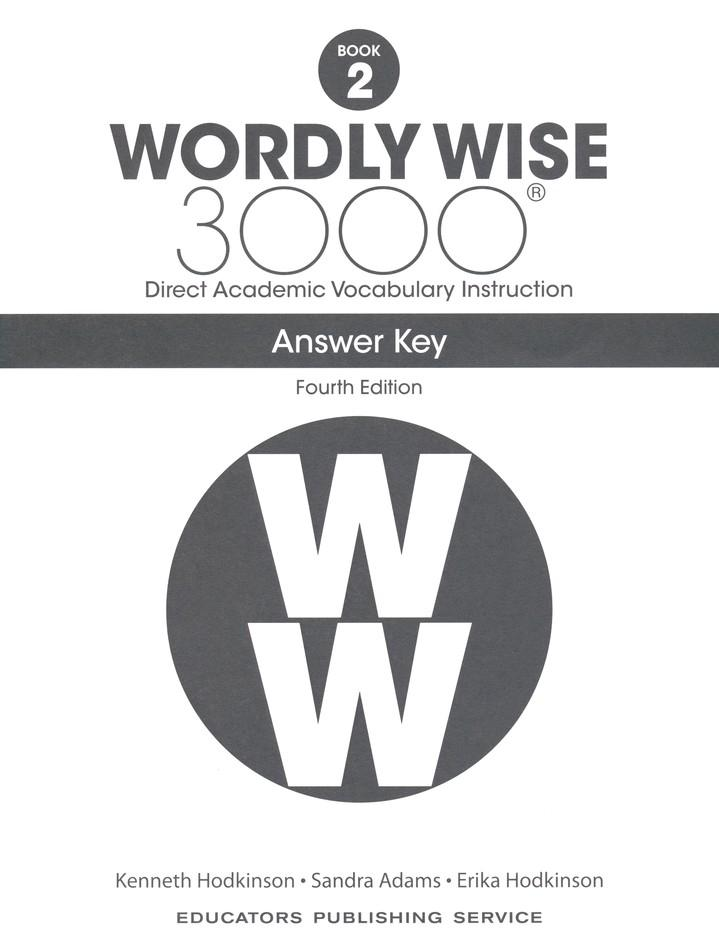Wordly Wise 3000 Student Book 2 and Answer Key Set (4th