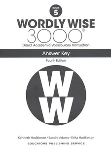 Wordly Wise 3000 Student Book 5 and Answer Key Set (4th