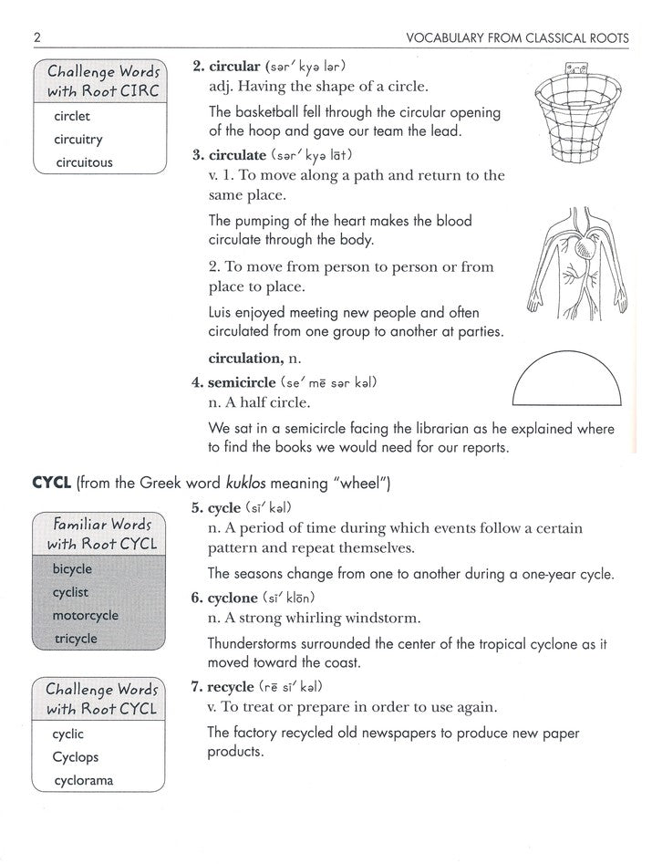 Vocabulary from Classical Roots Student Book 5 and Answer ...