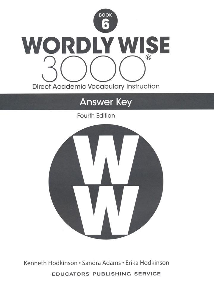 Wordly Wise 3000 Student Book 6 and Answer Key Set (4th