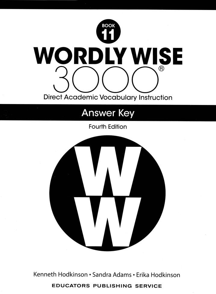 Wordly Wise 3000 Student Book 11 and Answer Key Set (4th