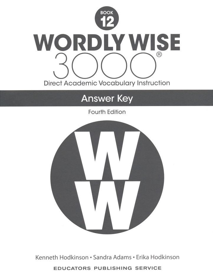 Wordly Wise 3000 Student Book 12 and Answer Key Set (4th