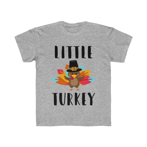 Little Turkey Kids Thanksgiving Regular Fit Tee