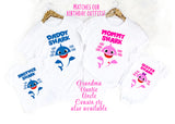 Baby Shark Family Shirts