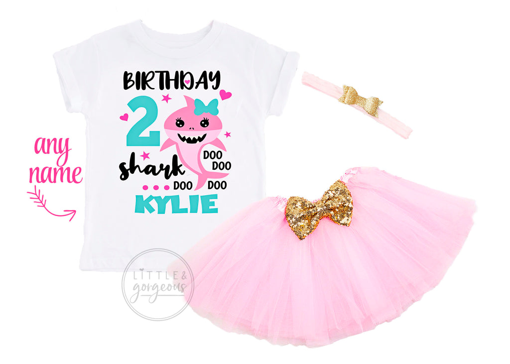 Second Birthday Baby Shark Outfit
