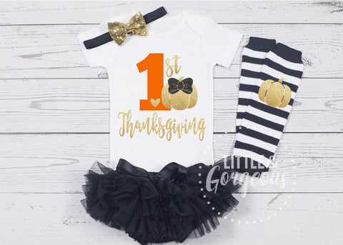 1st Thanksgiving Outfit First Thanksgiving Onesie First Thanksgiving Outfit 1st Thanksgiving Onesie Girls Fall outfit Halloween Outfit