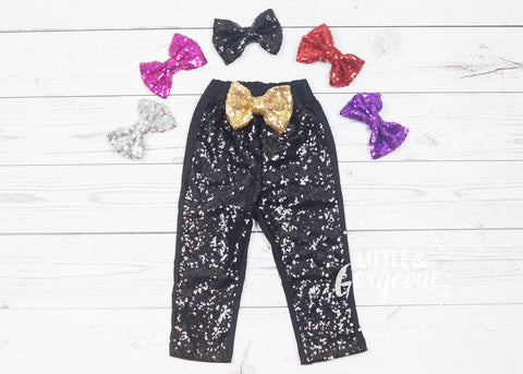 Girls Black Sparkle Pants, Black Sequin Pants, Girls Sparkle Leggings, Girls Sequin Leggings, Glitter Pants, Glitter Leggings, Black Pants