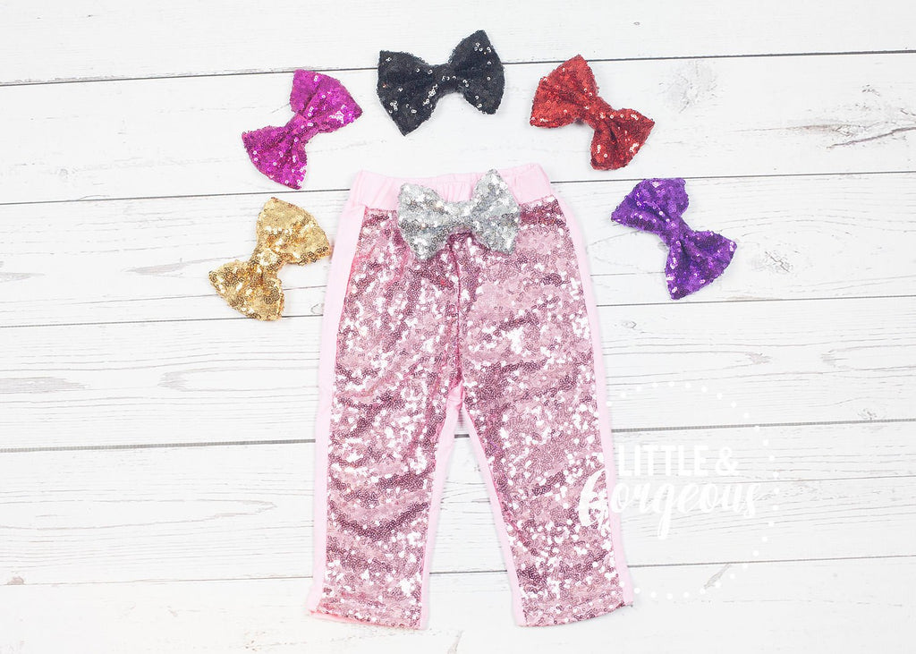 Pink Sequin Pants, Girls Pink Sparkle Pants, Girls Sparkle Leggings, Girls Sequin Leggings, Glitter Pants, Glitter Leggings, Pink Pants