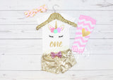Girls First Birthday Outfit Unicorn 1st Birthday Outfit Unicorn Birthday Outfit