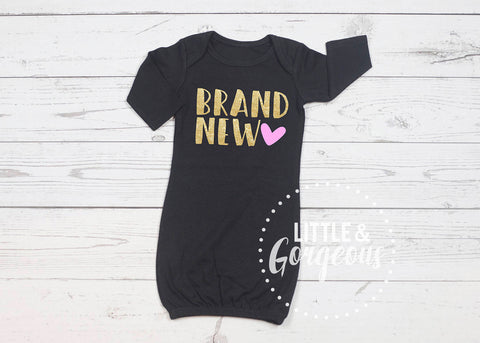 Girls Going Home Outfit Brand New Newborn Outfit Newborn Gown Baby Shower Gift Coming Home Outfit Baby Gown Baby Gift Baby Girl