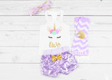 Girls Second Birthday Unicorn Outfit 2nd Birthday Unicorn Tank top Two Shirt